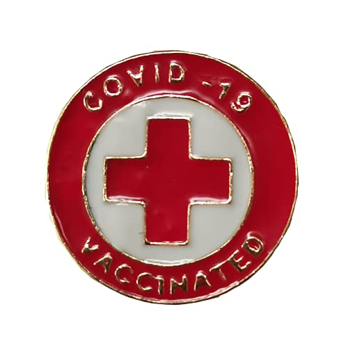 Covid Vaccine Button Pin Badge Brooches Stickers Sign COVID-19 Coronavirus Vaccine CDC Encourages Public Health Button Badges (6pcs)