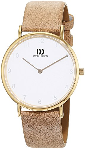 Danish Design Damen Analog Quarz Uhr mit Leder Armband 3320229