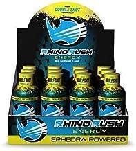 Rhino Rush Blue Raspberry Energy Drink New Double Shot (12 pack)