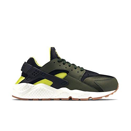 Nike Air Huarache Sneaker, niedrig, Damen, Grün - Carbon Grün Schwarz 300 - Größe: 37.5 EU