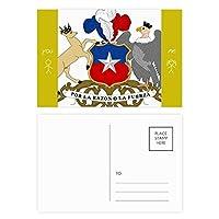 チリ国家エンブレムの国 友人のポストカードセットサンクスカード郵送側20個