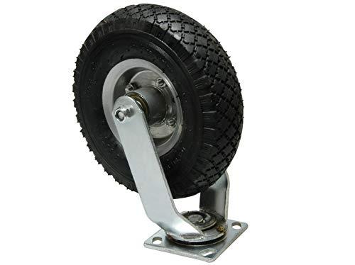 NEUMÁTICOS rueda giratoria con rodamiento de bolas de metal-llanta 260 x 85 mm