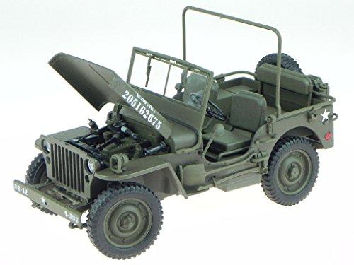 Willys Jeep U.S. Army oliv grün Modellauto 18036 Welly 1:18