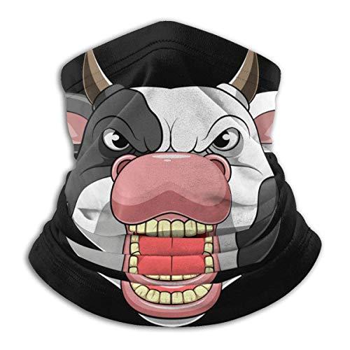 AEMAPE Angry Bull Head Mascarilla Cuello Calentador de Cuello Bufanda Bandana Bufanda Pasamontañas