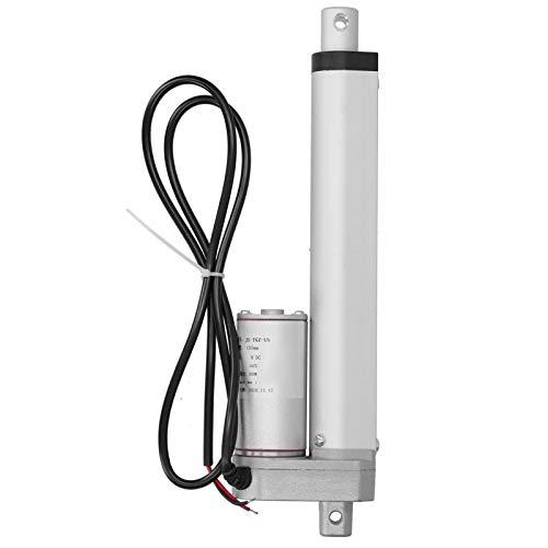 Fafeicy Putter eléctrico de motor, actuador lineal de carrera de 300 N 150 mm, con interruptor de límite, velocidad sin carga de 10 mm/s, para barcos, automóviles, maquinaria industrial(24VDC)