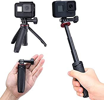 Extendable Selfie Stick for Gopro Portable Vlog Selife Stick Tripod Stand for Gopro Hero 8/7/6/5 Black/Gopro Max DJI Osmo Action Insta 360 Action Camera Accessory Kits