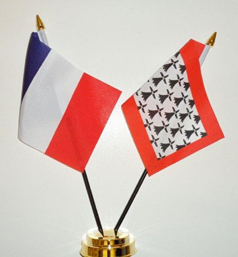 La France et l'amitié Limousin Drapeau de Table Présentoir 25 cm (10 \