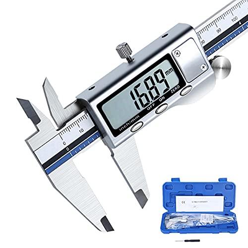 GYAM Pantalla De Pantalla Digital Vernier, 0-100/150/200/300 Mm Calibrador Electrónico De Acero Inoxidable, Pulgada/Conversión Métrica Micrómetro Herramienta De Medición,300