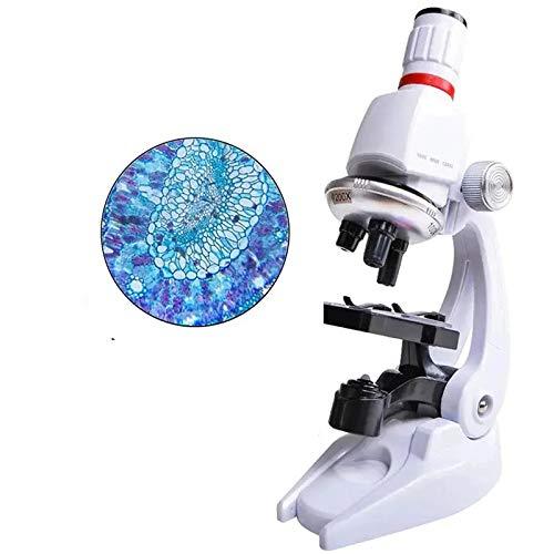 QAIYXM 1200X Kinder Biologisches Mikroskop, Kinder Pädagogisches Spielzeug, Geeignet Für Die Schule Oder Labor Studenten, Handyhalter Und Tragetasche