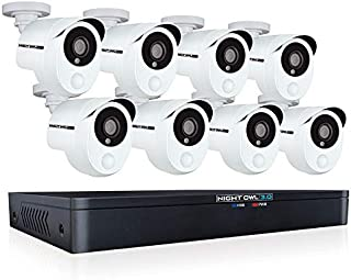 Night Owl CCTV Video Home Security Camera System with 8 Wired 1080p HD Indoor/Outdoor Cameras with Night Vision, Dual Sensor Technology with Real-Time Motion Alerts, and 1 TB Hard Drive