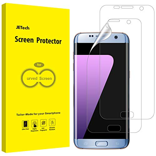 JETech Protection Ecran Samsung Galaxy S7 Edge (Pas pour Galaxy S7), Film Ultra HD TPU, Coque Compatible, Lot de 2