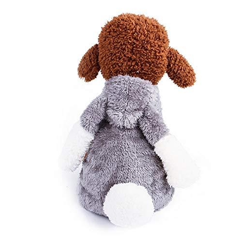CWYPWDY Pet Kleidung Niedlichen Kaninchen Bunny pet kostüm warme samt Fleece pet Hund Overalls Winter Hund Trainingsanzug pet Hund Pullover Mantel für kleine Hunde