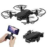 Mini drone pliable avec 4k Dual caméra Quadricoptère Quadcopter WIFI FPV avec caméra pour enfant débutants adultes (commande vocale, maintien de laltitude, roulement à 360 °, mode sans tête)