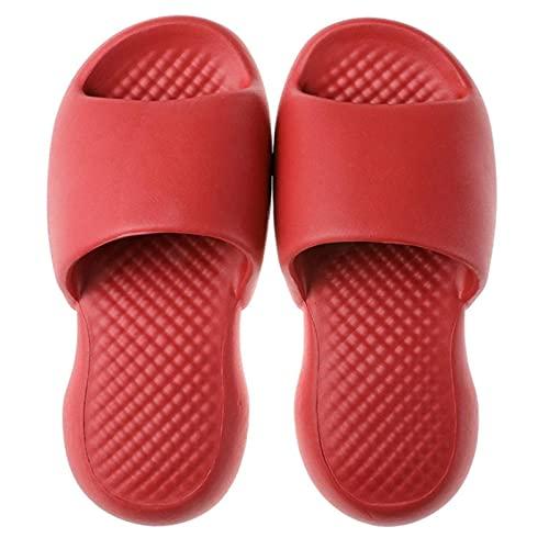 ZQSLZWZW Zapatillas Ultra Suaves Macaron Color Antideslizante Eva Flip Flop para Verano BañO Hogar Oficina Color SóLido 40-41 Vinotinto
