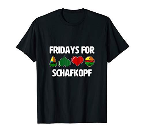 Fridays for Schafkopf Outfit mit bayrischen Kartenblatt    T-Shirt
