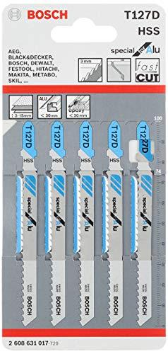 Bosch Pro Stichsägeblatt Special for Alu zum Sägen in Alu und Buntmetall (5 Stück, T 127 D)