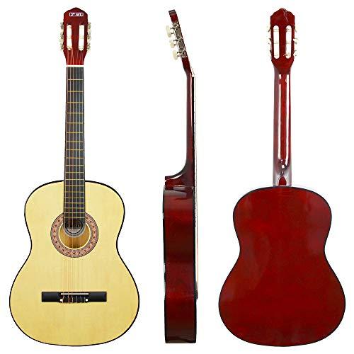 3rd Avenue STX20AN - Guitarra clásica de tamaño completo, Natural, Estándar