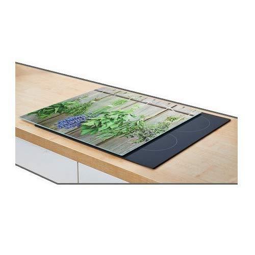 Zeller 26282 - Cubierta para Fuegos/Panel de protección, de Vidrio, Vidrio, Kräuter, 56x50x2 cm