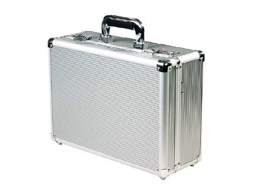 Valigia porta attrezzi in alluminio Serratura a combinazione Divisori interni removibili Interno coperchio con porta cacciaviti, pinze, chiavi Contenuto confezione: valigia