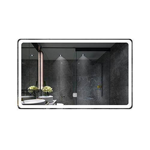 Badkamerspiegel, spiegel, badkamerspiegel, wandbehang, intelligent toilet verlicht, touchscreen, anti-condens, LED-spiegel