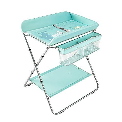 Tables à langer Lit bébé Station de Couche-Culotte Pliable Cross Style Jambe, 2-in-1 Unité Polyvalente Changer Soins Infirmiers Dresser, roulements 15 kg