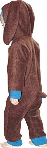 Mamadu Baby Hase (Häschen) Kostüm/Overall/Strampler/Strampelanzug aus Fleece Schnittmuster mit Anleitung für Anfänger, Größe 56-98 zum selber Nähen