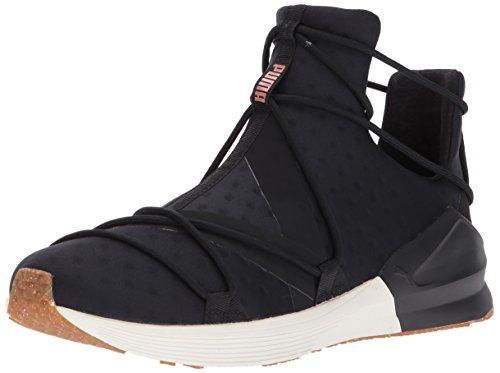 PUMA Women's Fierce Velvet Rope Wn Sneaker, Black-Whisper White, 6 M US