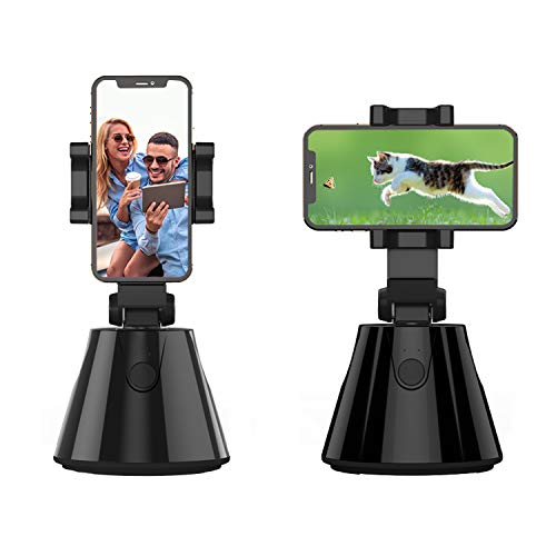 Smart Portable Selfie Stick,360°Rotation Auto Face Object Tracking Camera Tripod Holder Smart Shooting Cell Phone Camera Mount, Vlog Shooting Smartphones Mount Holder for All Phones