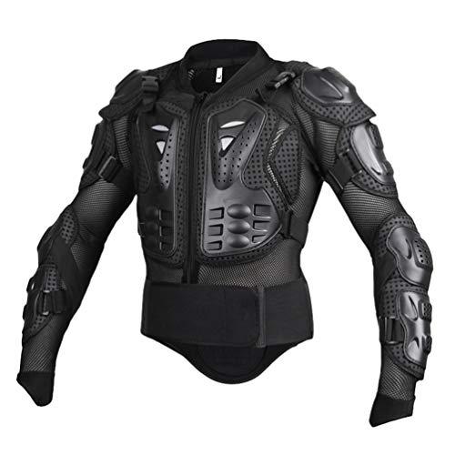Yuanu Motorrad Schutzausrüstung Berg Reiten Skaten Snowboarden Brustpanzer Motorrad Ganzkörper-Rüstung mit Brust und Rücken Schutz Schwarz S