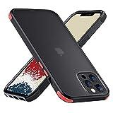 【ONES】 iPhone 12ProMax 用 ケース 耐衝撃 エアバッグ 超軍用規格 美しい 〔半透明·黒·マット感·頑丈な背面+柔軟なTPUバンパー〕〔持ちやすい、滑り止め、すり傷防止、指紋や汗防止〕 Qi充電 DIY カバー