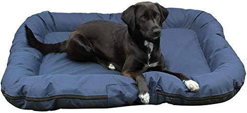 Camas para Perros Impermeables, colchón de Tela Oxford Lavable para Perros para Gatos y Perros, tamaño de cojín para Mascotas Suave y Acogedor - L: 80 X105 X 8CM (2.21kg) (Grande, Azul)