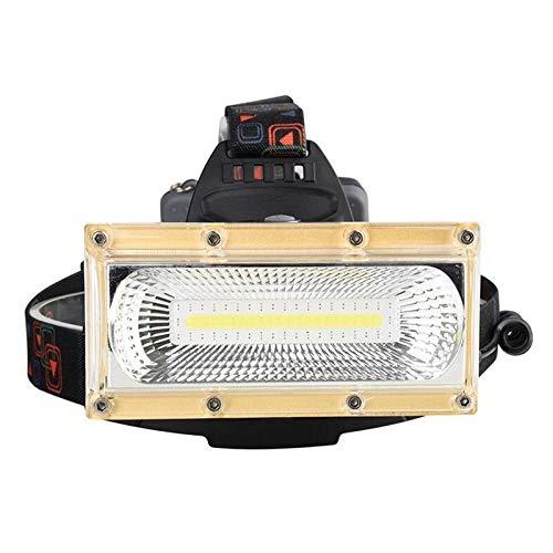 Faro Abierto de tenting LED COB Faro de Pesca Use 3 * 18650 Lámpara de Cabeza de la batería (Color : Yellow)