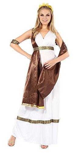 Bristol Novelty AC726 Göttin Kostüm mit Schärpe, Braun