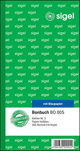 Sigel Formularbuch - Recibos de tipo etiqueta, azul