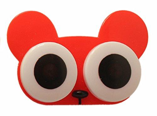 Kontaktlinsenbehälter Linsenbehälter Aufbewahrungsbehälter Behälter Augen NEU (Rot)