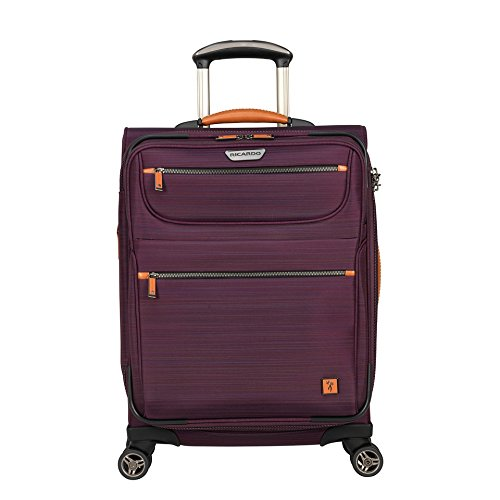 Ricardo Beverly Hills San Marcos 21-inch 4-Wheel Wheelaboard Luggage, Violet Purple, One Size