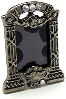 Melody Jane Dollhouse Empty Antique Silver Photo Picture Frame Miniature 1:12