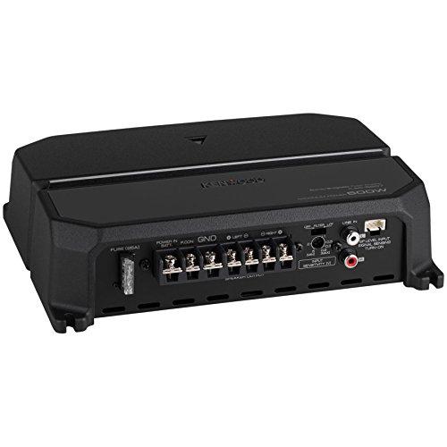Kenwood KAC-5207 - Amplificador de Audio para Coche (500 W, 2 Canales, 2 ohmios, Clase AB)