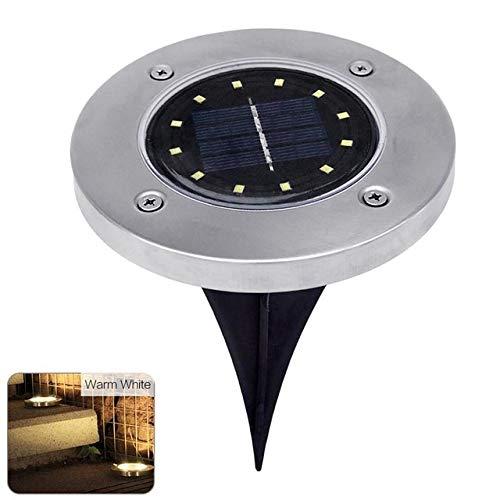 GuoQiang Zhou 12LED energía Solar de la lámpara de la luz del césped Buried lámpara de jardín al Aire Libre Camino Cubierta de pie luminarias Inicio Yard Calzada