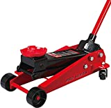 BIG RED T83002 Torin Pro Series Hydraulic Floor Jack with Single Quick Lift Piston Pump, 3 Ton (6,000 lb) Capacity, Red
