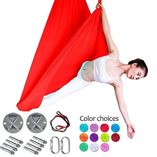 MQSS zeer elastisch zijdeweefsel Aerial Flying Yoga Swing/hangmat/Trapezstretch Aerial Yoga Swing hangmatset - voor anti-zwaartekracht en inversieoefeningen