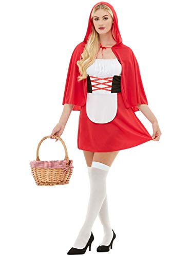 Funidelia | Disfraz de Caperucita roja Oficial para Mujer Talla L ▶ Caperucita, Lobo Feroz, Cuentos - Rojo