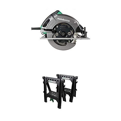 """Metabo HPT 7-1/4"""" Circular Saw Kit with Folding Sawhorses (2-Pack)"""