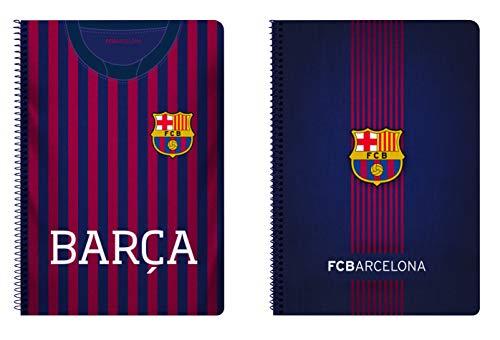 FC Barcelona F.C. Barcelona Bloc Folio, Tapa Dura, Azul, 31 cm