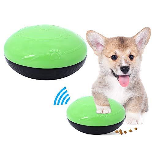 ShawFly - Dispensador de Comida para Perros, Juguete Vocal, para Perros, Juguetes interactivos, Bola antimordida con Sonido para Perros y Gatos pequeños, medianos, Verde