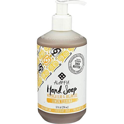 Alaffia Everyday Shea Liquid Hand Soap - Helps Clean, Moisturize, and Refresh Hands with Shea Butter, Moringa Leaf, Argan and Coconut Oils, Fair Trade, Lemon Verbena, 12 Ounces