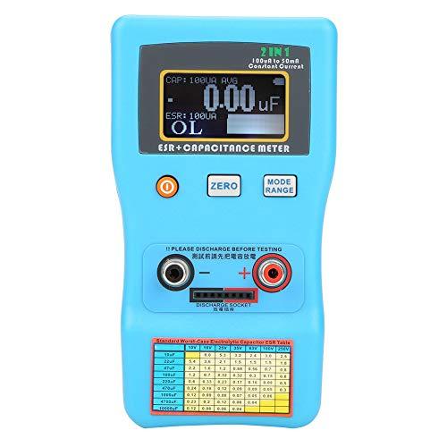 Capacitor Meter,Akozon MEC-100 High Precision Digital Display Automatic Range Electrolytic Capacitance ESR Meter