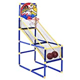 Arcade - Canasta de baloncesto con 2 pelotas y bomba, uso en interiores y exteriores, fácil de montar, 39,9 x 80 x 120 cm, regalo para niños a partir de 3 años