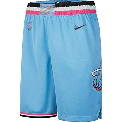 EDFG Completo Maglia da Basket Uomo Maglia da Basket Miami Heat No. 25 Nahn Guardia Guardia Maglia Blu Versione City- Blue Shorts-L