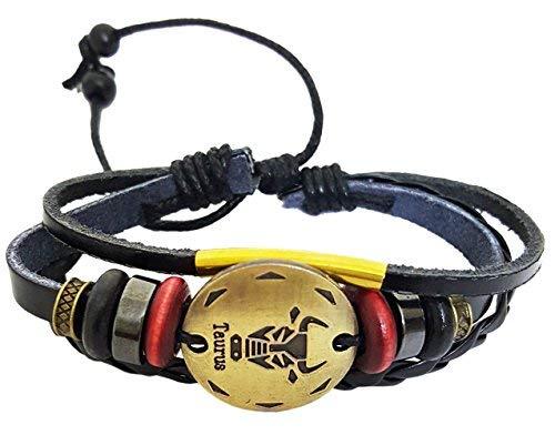 SataanReaper presenta pulsera de cuero negro multicapa para niños/niñas #SR-2522